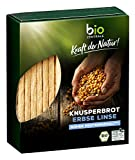 bioZentrale Knusperbrot Erbse Linse, Bio-Knusperbrot, vegan & glutenfrei, lecker als Snack pur oder...