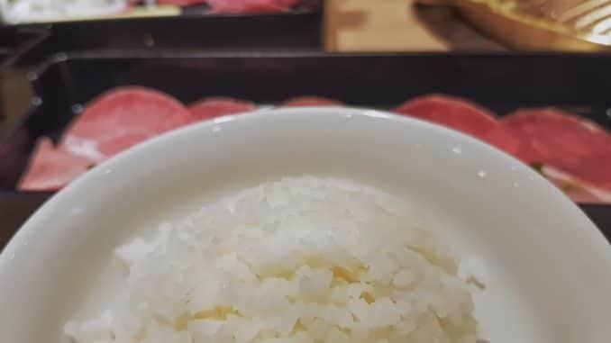 Rindfleisch mit Spargelreis